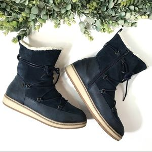 White Mountain 'Topaz' Suede Lace Up Winter Boots